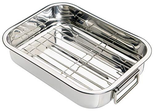 Kitchen Craft, Rostiera con griglia in acciaio, 27.5 x 20 x 5.5 cm