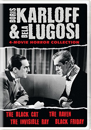 DVD : Boris Karloff & Bela Lugosi: 4-Movie Horror Collection (2 Disc)