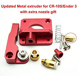 Upgraded 3D Printer Parts MK8 Extruder Aluminum Alloy Block Bowden Extruder 1.75mm Filament for Creality 3D Ender 3,CR-7,CR-8, CR-10, CR-10S, CR-10 S4, and CR-10 S5 with Extra 0.4mm Nozzle by Shenzhen Creality 3D Co.,Ltd