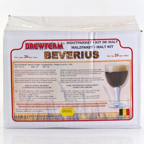 Fertige Malzmischung zum Brauen von 20 Liter Beverius Klosterbier - Malzpaket zum Bier brauen - ungeschrotet Brewferm