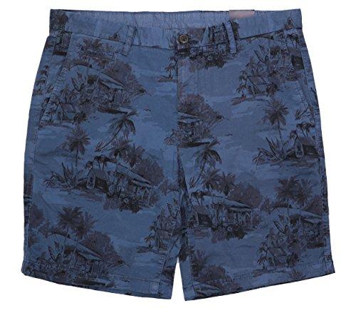 Tommy Hilfiger Golf Shorts - Tommy Hilfiger Denton Island Straight Fit Flat Front Shorts (Indigo, 34)