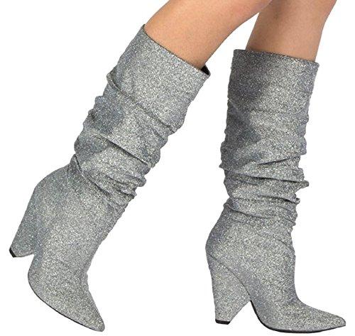 Glitter Cone Heels - 1
