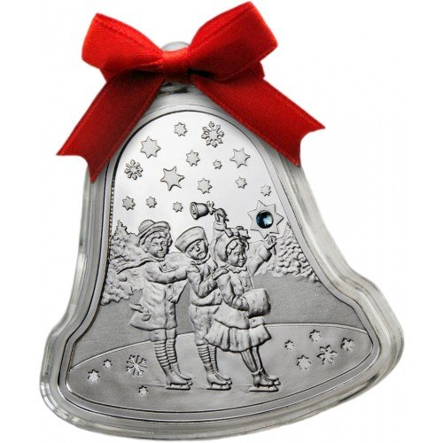 (2012 BY 2012 Niue Islands 2012 - $2 - Christmas Bell - 1oz LIMITED Silver Coin - Silver Coin - $2 Uncirculated BM)