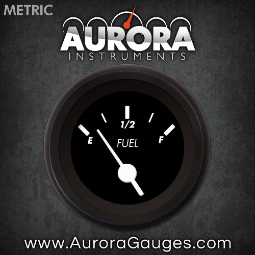 Marker Black Fuel Level Gauge 6707 GAR233ZMXKACAD Aurora Instruments