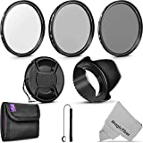 58MM Altura Photo UV CPL ND4 Professional Lens Filter Kit and Accessory Set for Canon and Nikon Lenses with a 58mm Filter Size