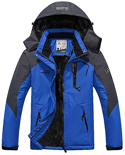 MAGCOMSEN Men's Waterproof Fleece Mountain Jacket