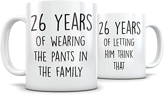 Amazon Com 26th Anniversary Gift For Couple Funny 26 Year