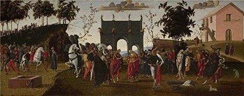 Perfect Effect Canvas ,the Amazing Art Decorative Canvas Prints Of Oil Painting 'Master Of The Story Of Griselda The Story Of Griselda Part I Marriage ', 24 X 61 Inch / 61 X 154 Cm Is Best For Laundry Room Decoration And Home Artwork And Gifts