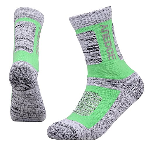 YUEDGE Women's 5 Pairs Wicking Cushion Anti Blister Outdoor Crew Socks for Hiking Walking Running Climbing Backpacking Skiing Year Round(L) by YUEDGE (Image #5)