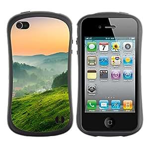 Pulsar iFace Series Tpu silicona Carcasa Funda Case para Apple iPhone 4 / iPhone 4S , Green Nature Landscape