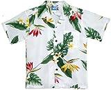 RJC Boys Bird of Paradise Display Rayon Shirt White 6