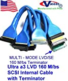 Round Ultra a3 LVD 160 M/bs SCSI Internal Cable with Terminator, (9 Connector 8 Drive)