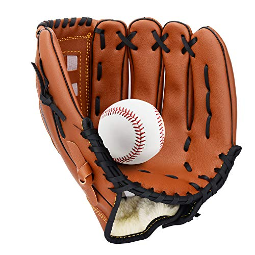 Unihoh Baseball Glove Softball Gloves - Right Hand Throw - Adult and Youth Sizes - 12,5in Size Mitts - Easy Break in Baseball Mitt ()