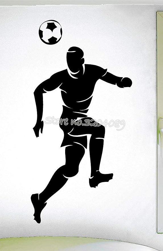 HNXDP fútbol tema niños fútbol rumbo pelota calcomanía de pared Headball deportes Decoración Niños Niños dormitorio Diseño artístico Fondo de pantalla Sticke EA607 56x114cm: Amazon.es: Bricolaje y herramientas