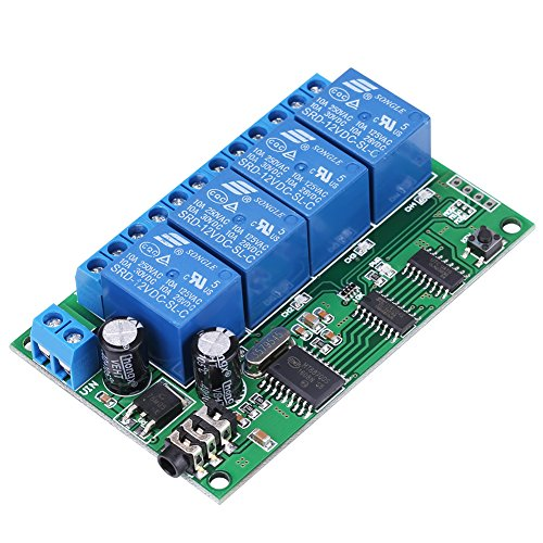 Signal Decoder Relay, AD22B04 12V 4 Channel DTMF Tone Signal Decoder Relay Phone Remote Control PLC