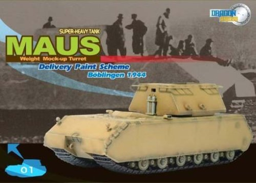 German WWII Sd.Kfz.205 Panzer VIII Maus Super Heavy Tank with Weight Mock-up Turret in Delivery Paint Scheme 60156 DRAGON armour 1//72 Scale Prefinished Fully-Detailed Model