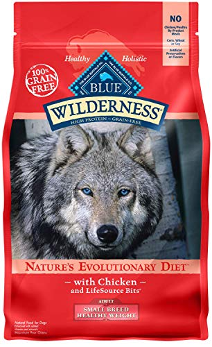 Blue Buffalo Wilderness High Protein Grain Free, Natural Adult Small Breed Healthy Weight Dry Dog...