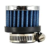 MonkeyJack Blue 1'' Universal Car Vehicle Intake Air Filter Auto Parts