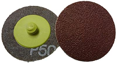 "Griton QA32050 2"" Quick Change Sanding Disc, Industrial Grade, 50 Grit, Green (Pack of 50) from Griton"