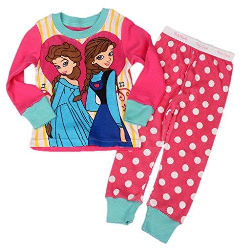"""[LB]""""Frozen""""Baby Toddler Kid's Girls Sleepwear Pajama Set G7001T2#S5"""