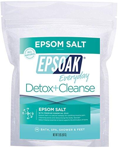 Epsoak Epsom Salt   Detox + Cleanse - 2lb For Bath, Spa, Shower & Feet (Everyday Epsom Salts)