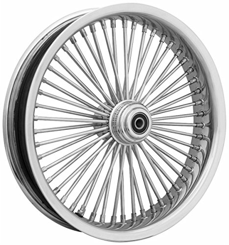 Ride Wright Wheels Inc Exotica Chrome 50 Spoke 21x3.5 Front Wheel (Single Disc), Color: Chrome, Position: Front, Rim Size: 21 04235-815-EX-T