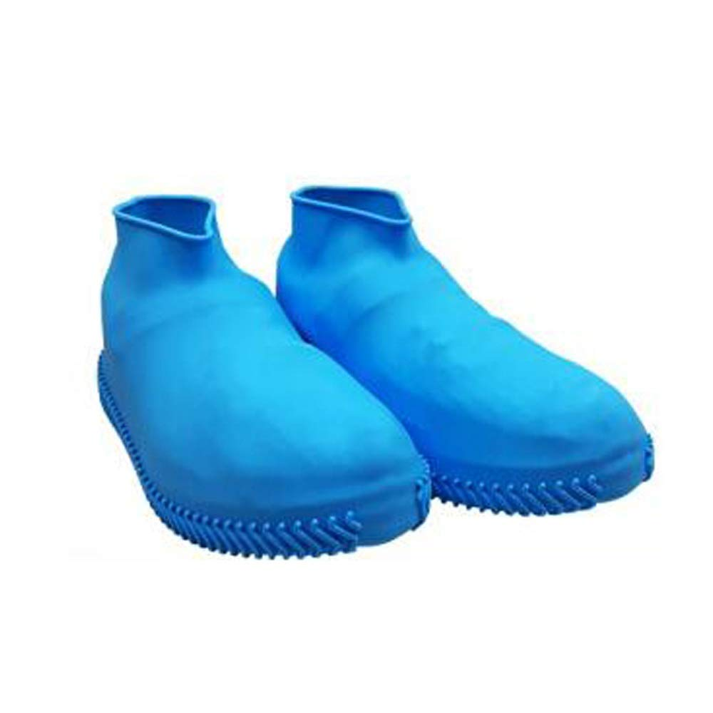 WUZHONGDIAN Shoe Cover, Made of Silicone, Environmentally Friendly, Odorless, Rainproof Non-Slip Shoe Cover, Reusable Shoe Cover (Color : Blue, Size : M) by WUZHONGDIAN