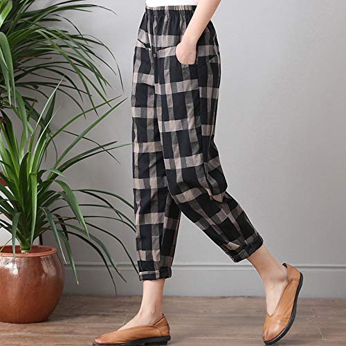 Pantalones Pantalón Sueltos Boho de Mujer Yoga Pantalones Ocio Fitness Jeans Harem Negro de Estilo de Cintura Casual de ASHOP Cintura Alta Vaqueros Leggings Cordón Impreso vxaXPXE