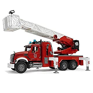 Bruder 02821 Mack Granite Fire Engine Truck w/ Working Water Pump, Lights & Engine Sounds