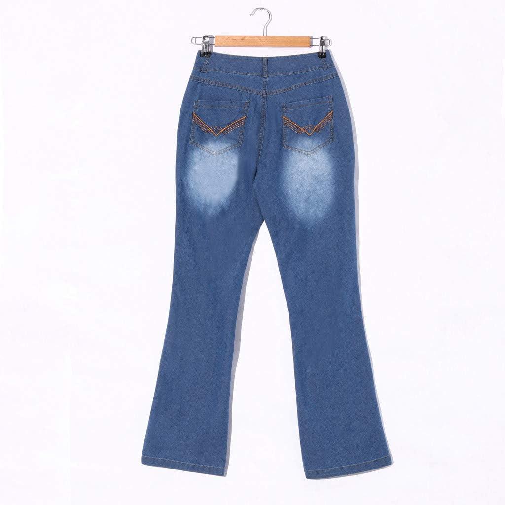 Women Modern Bootcut Jean Mid Rise Rider Stretch Denim Curvy Straight Jeans Juniors Classic Legendary Butt Lift Denim Jeans Pocket Trousers Plus Size