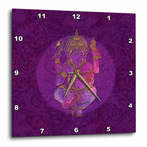 God Wall Clock - 3dRose Andrea Haase Art Illustration - Illustration Of Hindu God Ganesha Elephant - 13x13 Wall Clock (dpp_268364_2)