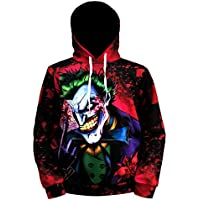 Hatoat Joker 3D Hoodies For Men Poker Sweatshirt Spring Clothing Anime Clown Hoodie