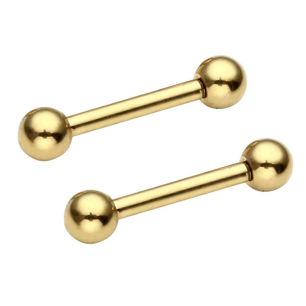 PiercingJ 2-8pcs 16G Stainless Steel Barbell Earrings Helix Cartilage Studs Tragus Earrings 8mm Pin