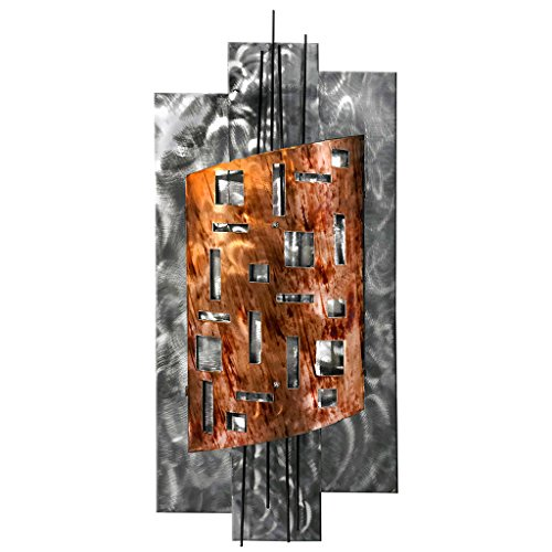 7055 Inc Warrior Second Shield Metal Wall Sculpture - Copper Wall Decor