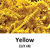 Crinkle Cut Paper Shred Filler (1/2 LB) for Gift Wrapping & Basket Filling - Yellow | MagicWater Supply
