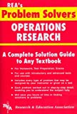 Operations Research Problem Solver, Research & Education Association Editors, 0878915486