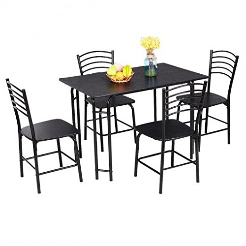 Two Tone Granite Green - Black MDF and steel Kitchen & Patio Dining Furniture Sets With Ebook