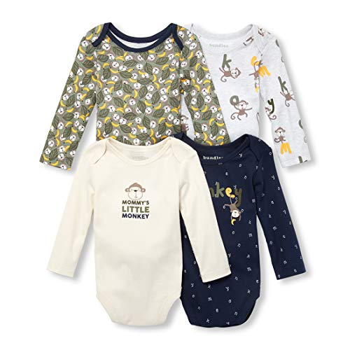 The Children's Place Baby Boys Mommy's Little Monkey Layette Set, Pearly Whites 3-6MONTHS