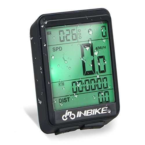 LinkStyle Wireless Waterproof Bike Speedometer Cycle Bicycle Wireless Computer Odometer with Digital LCD and Backlit Display & Muti-Function by LinkStyle