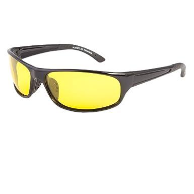 28ffb04f54ad Amazon.com  SPORT WRAP HD NIGHT DRIVING YELLOW VISION SUNGLASSES HIGH  DEFINITION GLASSES  Clothing