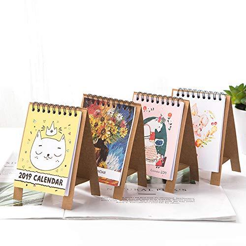 Calendar 1pc Calendar 2019 Cartoon Standing Calendars Multifunction Daily Schedule Planner Notebook Desk Organizer