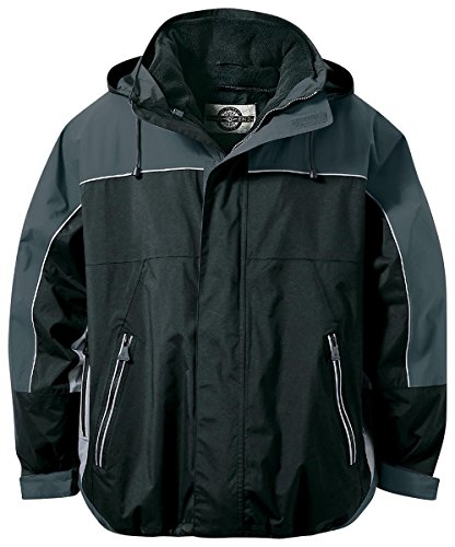 Ash City - North End North End Men's Techno Performance 3-In-1 Mid-Length Jacket, Black, - Performance Techno End North