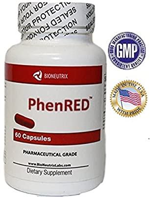 PhentRx PhenRED® The #1 Rated Diet Pills - Pharmaceutical Grade Extreme Appetite Suppressant and Weight Loss Aid (OTC, Non-Prescription)