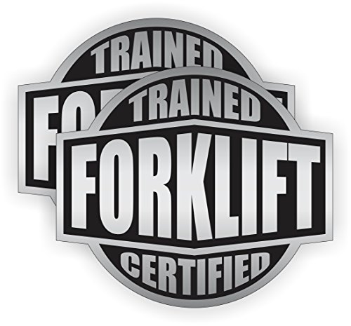Forklift Trained & Certified Hard Hat Sticker / Helmet Decal Label Lunch Tool Box Tow Motor Lift Truck