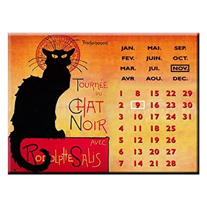 6b0eaf961f9 Souvenirs of France - Paris Black Cat Perpetual Calendar  Amazon.ca  Home    Kitchen
