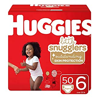 Huggies Little Snugglers Baby Diapers, Size 6, 50 Ct