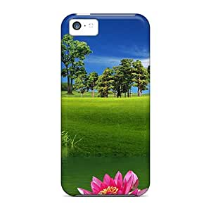 DcT6039fnWL Case Cover Field With Water Wheel Iphone 5c Protective Case