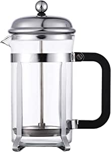French Press Coffee and Tea Maker - Best Reinforced Glass with Chrome Frame - 2-4 Cup (350ml)