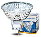 Long Life Lamp Company MR16 Halogen Bulbs GU5.3 Lamp 12v, Warm White - 10 Pack