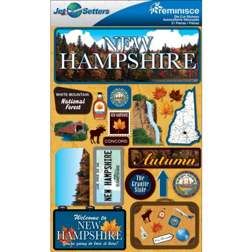 Reminisce Jet Setters 2 3-Dimensional Sticker, New Hampshire